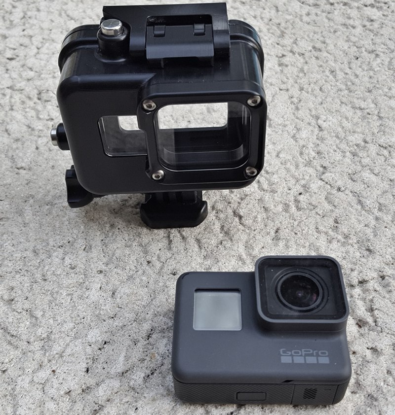 gopro5 housing for gopro hero 5 and hero 6 black camera rated to 500ft