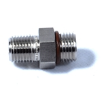Swagelok Adapter, 9/16-18 Male SAE/MS Straight Thread x 1/4 in. Male NPT